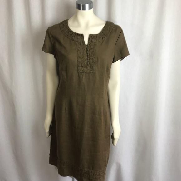 BODEN Linen Dress Plus Size 14